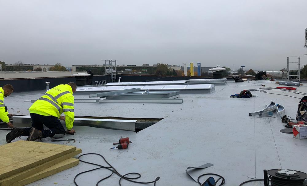 Étanchéité isolation toitures usine Clayes-sous-Bois