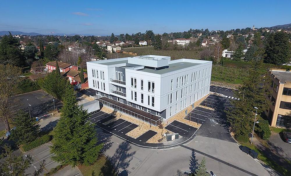 Vue drone construction immeuble