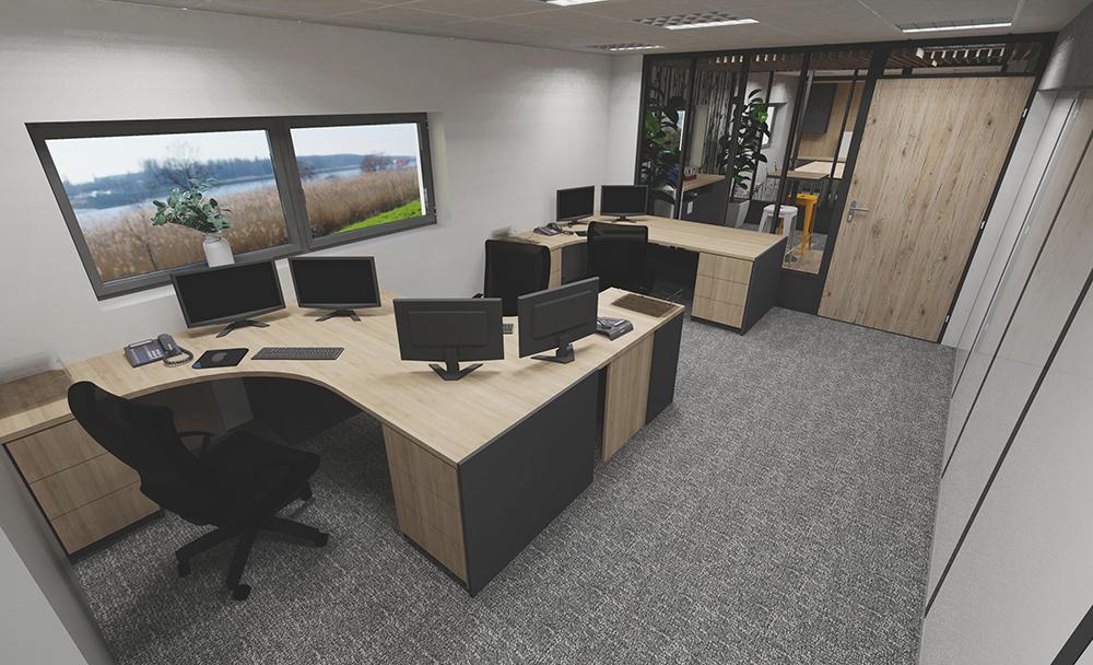 Rénovation de bureaux vue 3d